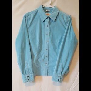 Talbots long sleeve corduroy button down shirt